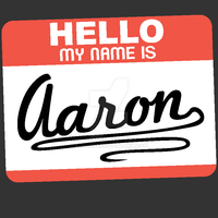 Square of Artwork - Hello My Name is Aaron by Ajn4307