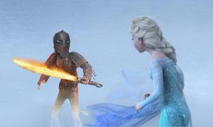 Hiccup Merida HTTYD vs Frozen fire vs Ice  WAR by kazerxestelaris