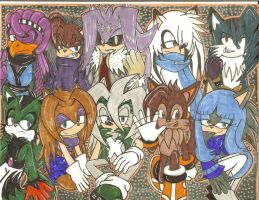 My Ocs Over The Years by SONICJENNY