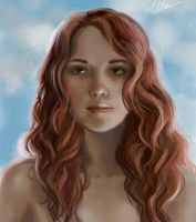 portrait of a friend by Erika-Xero