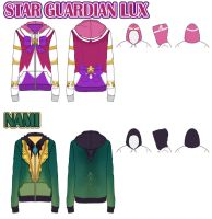 Star Guardian Lux and Nami Hoodie Designs by DrippingSin