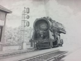 Cool train drawing in progress by SnowyZo3