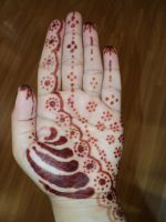 Henna on my left hand by j2kitty