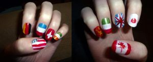 Flags of the World Nails by icantunloveyou