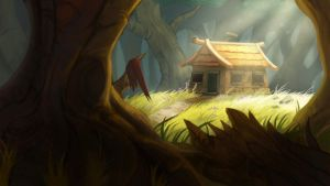 House in the Woods by manreeree
