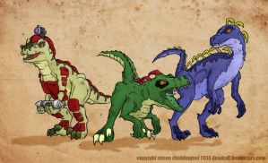 3 Raptorsaurs by deadcal
