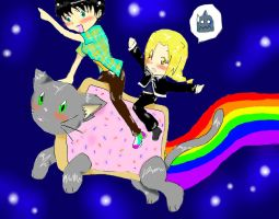 Hell Yeah Nyan CAT by MoonofTheGothicJinks