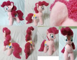Large Pinkie Pie plushie, minky + curly fur by Rens-twin