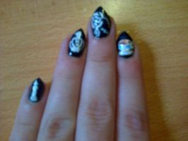 Black Butler Nails by EveMisterunderstood