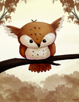 Owly creature by Dreamprotected