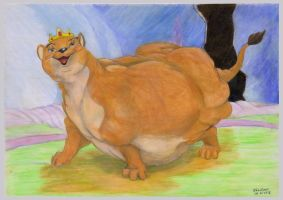 Fatty lioness queen by SSsilver-c