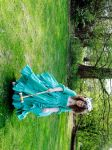green rococo gown al anglaise by Taicho