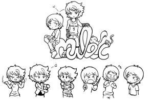 Malec Chibis Preview -TMI by Felwyn