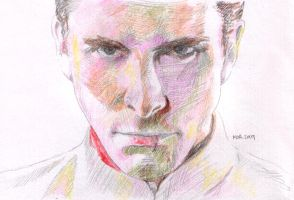Christian Bale by ihni