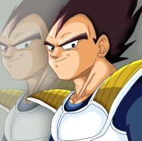 Vegeta smile... cute by cougermiau