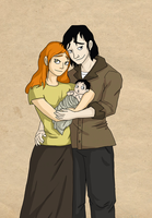 Lily And Snape- Happy Family by Bonez1925