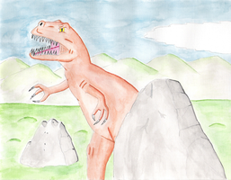 Dino watercolor by Maleiva