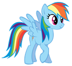 Rainbow Dash Vector by Durpy