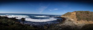 Ragged Point Panoramic by Destiny-Carter