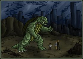 Gamera, The Friend to Children by ArchiCrash