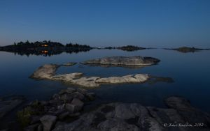 The Finnish archipelago by night by photojrs