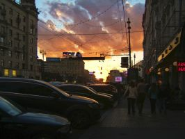 Sunset hour. Tverskaya street. by mirator