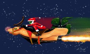 Rocket Rudolph by digistyle