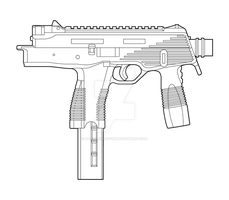 Steyr TMP Lineart by MasterChiefFox
