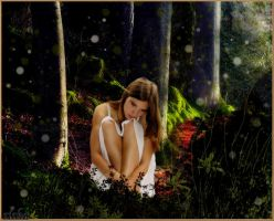 allone in the forrest by siska02