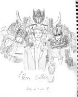 Peter Cullen with OPx3 by Autumn123Charlotte