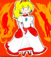 Mario - Fire Peach by Glaciliina
