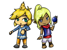 Chibi: Link and Tetra by Linkerbell