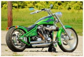 Cool Green Custom Built Motorcycle by TheMan268