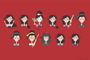 Wallpaper Mulan by Louise-Rosa