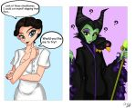 Maleficent and Irene Adler Commission by Rena-Muffin