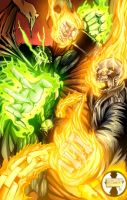Spawn versus Ghost Rider by victoroil