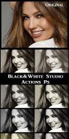 Black and White   Studio   Actions Ps by Tetelle-passion