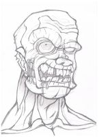 Zombie Sketch by GHussain