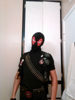 Weapon-X Deadpool cosplay up close (new mask) by Deadfish-Comics
