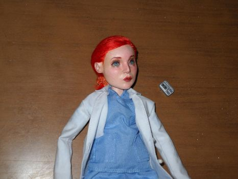 Dana Scully art doll scrubs version (sold) by LilliamSlasher