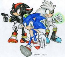 Sonic, Shadow, Silver by VanillaREM