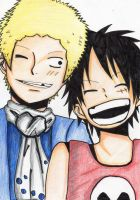 Older Brother__Sabo and Luffy by Mitsukichan17