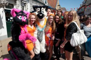 Queens Day, picture time, again ! by FurryFursuitMaker