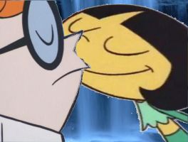 Lee Lee and Dexter kiss under the waterfall by timbox129