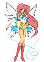 Sailor Fluttershy by Pixel-chick