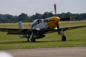 Ferocious Frankie P-51D before take off by OnionTheKiller