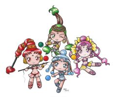 Sailormoon SuperS Chibi AQ by sakkysa