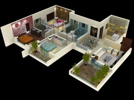 Cut View 3BHK_001 by psd0503
