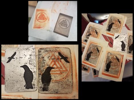 Odin cards by creativeetching