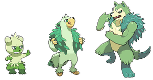 Grass Starter Evolution Line by Pokekoks